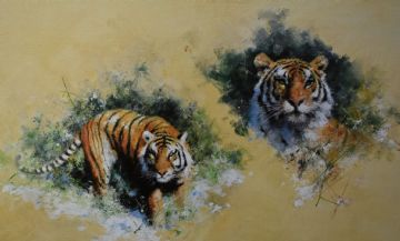 David Shepherd Signed Limited Edition Tigers Print